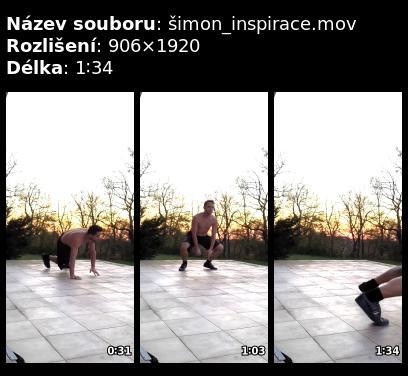 Cvičení na terase – video od Šimona